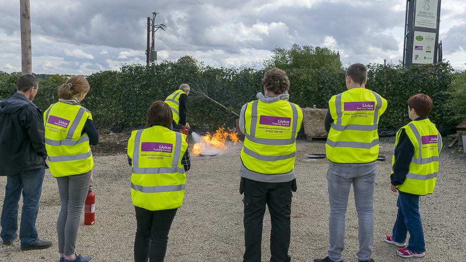Group fire safety training